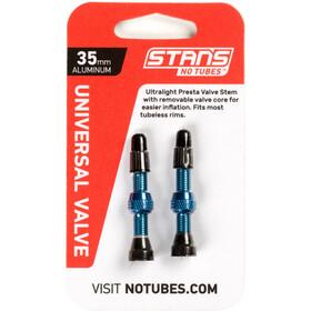 NoTubes Universal Zawór do opony bezdętkowej Presta Aluminium 35 mm, blue